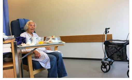 92 åring som ikke klarte å bo hjemme lenger