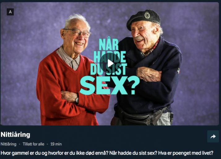 Nittiåring - Når hadde du sist sex?